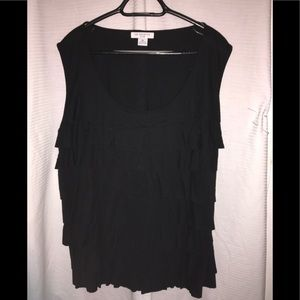 Liz Claiborne layered black tank top size 3XL